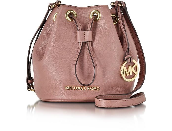 6f72acfbe941 Michael Kors Dusty Rose Jules Soft Leather Drawstring Crossbody Bag ...