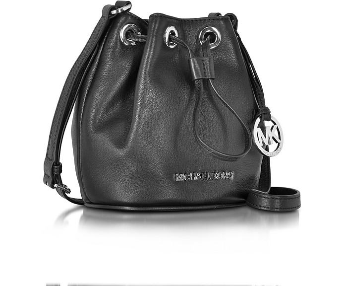 bda34b34660c7d Jules Black Soft Leather Drawstring Crossbody Bag - Michael Kors. $168.00  Actual transaction amount