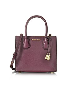 Mercer Medium Bonded-Leather Messenger/Tote - Michael Kors