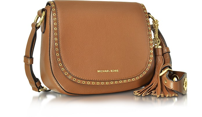 251fb1b1dc78 Brooklyn Medium Luggage Leather Saddle Bag - Michael Kors. $368.00 Actual  transaction amount