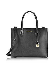 Mercer Large Convertible Bonded-Leather Tote - Michael Kors