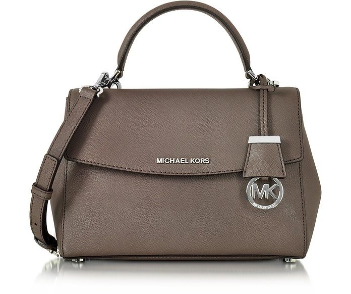 6674dd94e504d Michael Kors Ava Small Cinder Saffiano Leather Satchel Bag at FORZIERI