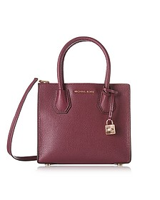 Mercer Medium Borsa in Pelle Mulberry con Tracolla - Michael Kors