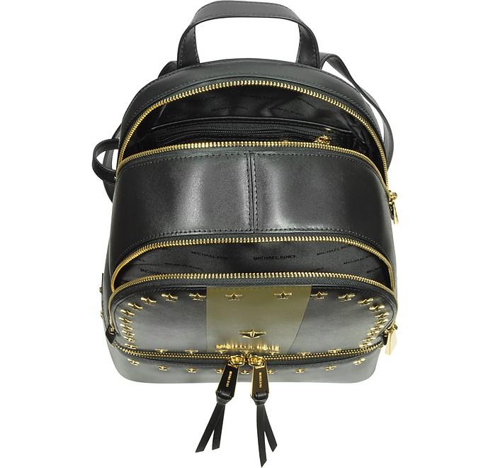 cf1497227409 Rhea Zip Medium Black and Olive Leather Backpack w Stars - Michael Kors.   358.00 Actual transaction amount
