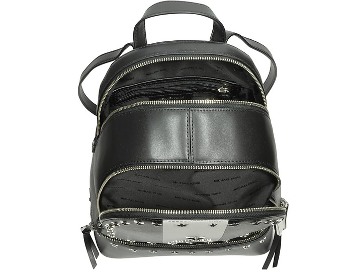 9e68cea26107 Rhea Zip Medium Black and White Leather Backpack w Stars - Michael Kors.  C 399.00 C 532.00 Actual transaction amount