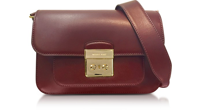 Sloan Editor Large Mulberry Leather Shoulder Bag  - Michael Kors
