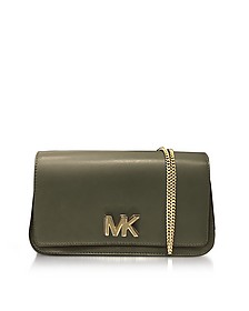 Mott Large Olive Leather Clutch  - Michael Kors