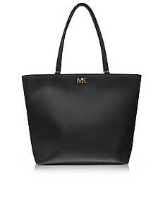 Mott Medium Black Leather Tote Bag - Michael Kors