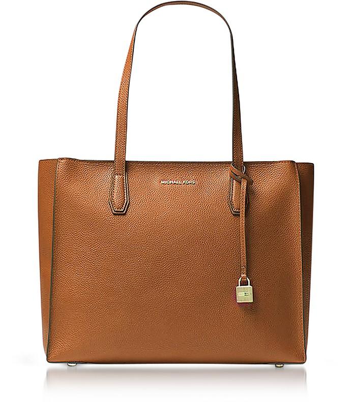 Mercer Large Acorn Pebble Leather Top Zip Tote Bag - Michael Kors