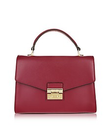 Sloan Medium Mulberry Leather Satchel Bag - Michael Kors