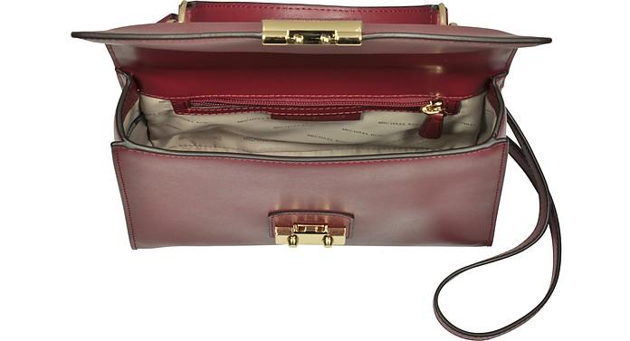 e58ba2959378 Michael Kors Sloan Medium Mulberry Leather Satchel Bag at FORZIERI UK