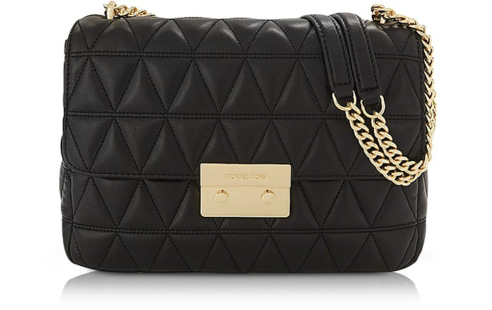 fece8e00cd3 Michael Kors Sloan Extra Large Black Quilted Leather Shoulder Bag at ...