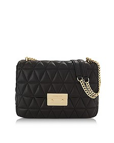 Sloan Extra Large Black Quilted Leather Shoulder Bag - Michael Kors