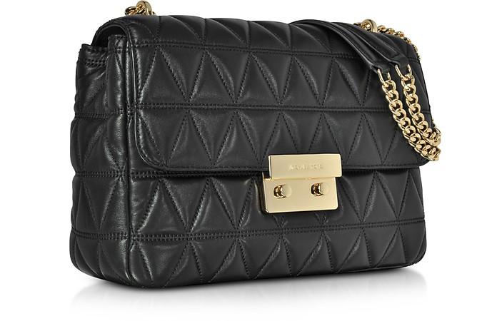 353989fec1dcb3 Michael Kors Sloan Extra Large Black Quilted Leather Shoulder Bag at ...