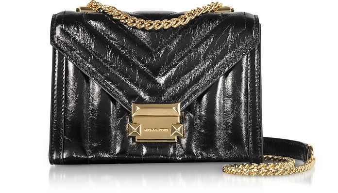 d20a6d3f34 Whitney Small Shiny Crinkled Leather Convertible Shoulder Bag - Michael Kors