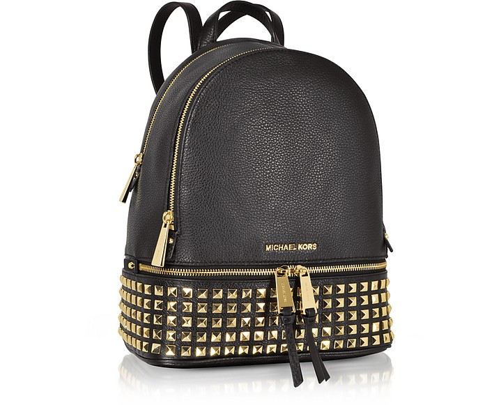 18886b105a799 Michael Kors Rhea Medium Studded Leather Backpack at FORZIERI UK