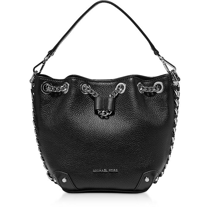 Black Alanis Small Bucket Bag - Michael Kors