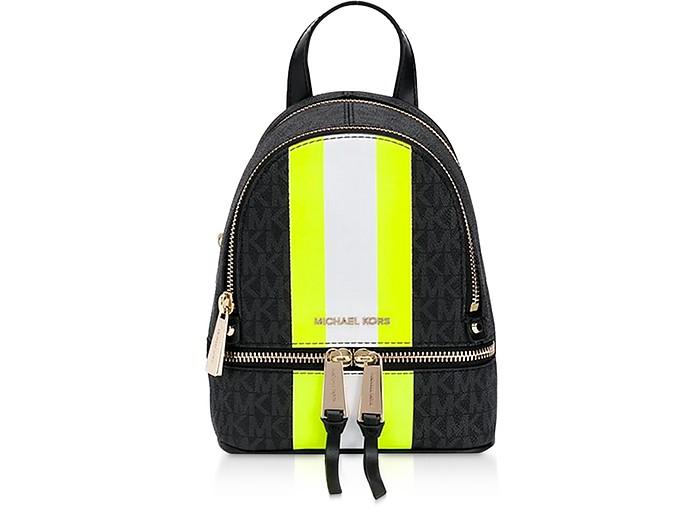 Rhea Backpack w/ Neon Stripe - Michael Kors