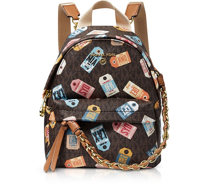 Slater Extra-Small Printed Logo Backpack - Michael Kors