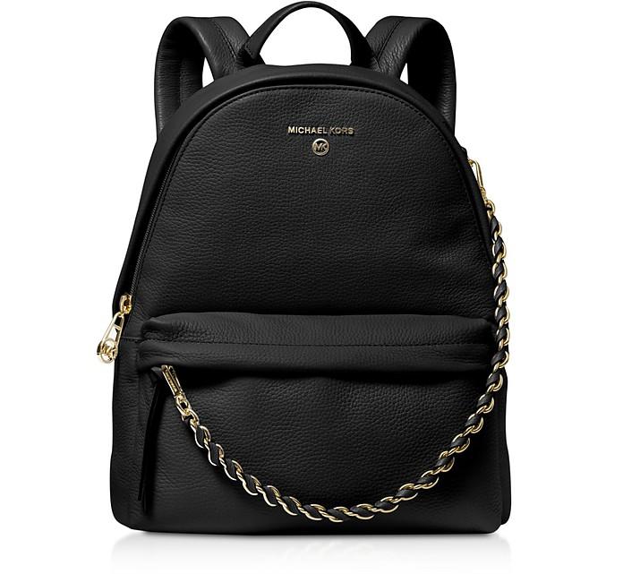 Slater Medium Pebbled Leather Convertible Backpack - Michael Kors