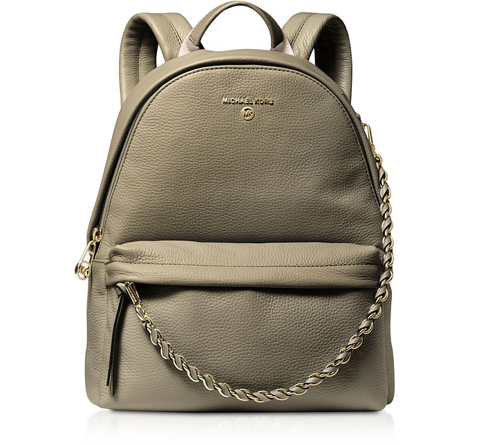 Slater Medium Pebbled Leather Convertible Backpack - Michael Kors