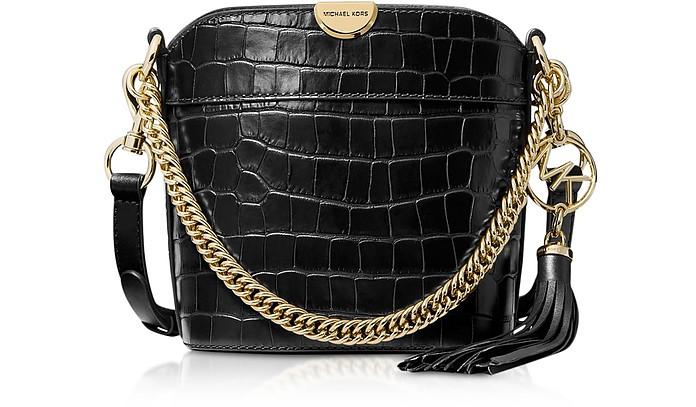 Xs Croco Embossed Leather Bea Bucket Bag