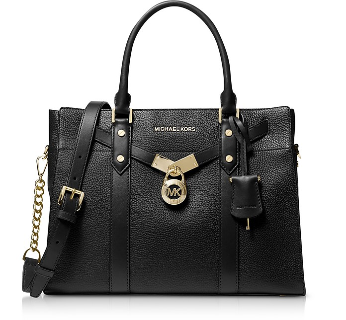 Nouveau Hamilton Large Pebbled Leather Satchel - Michael Kors