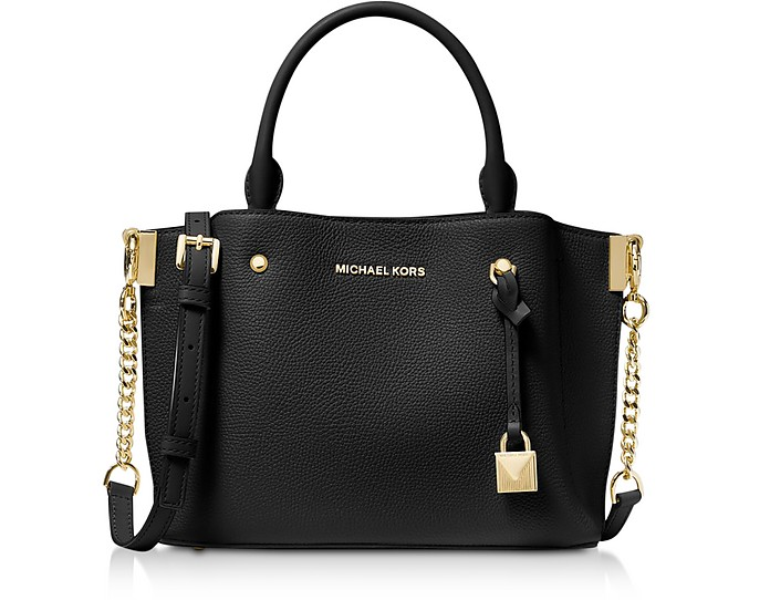 Arielle Small Pebbled Leather Satchel - Michael Kors