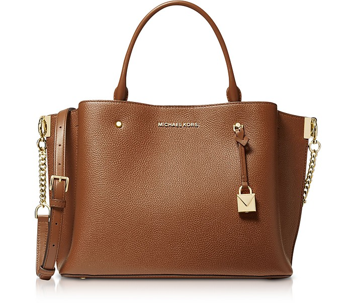 Arielle Large Pebbled Leather Satchel - Michael Kors