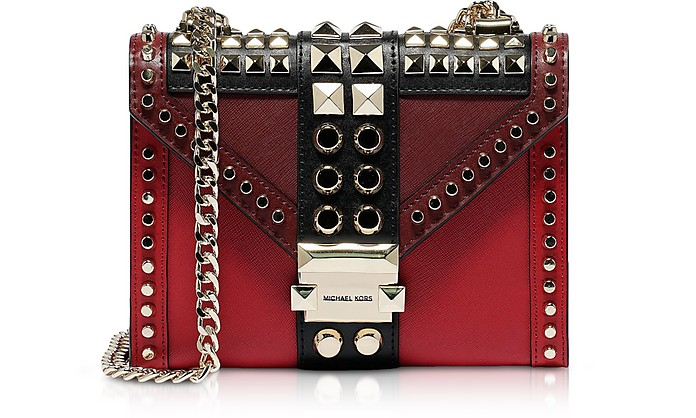 Bright Red Small Whitney Shoulder Bag - Michael Kors