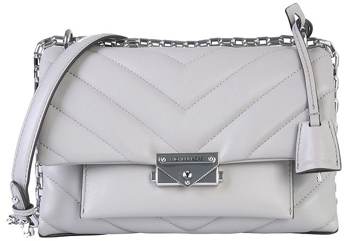 Gray Quilted Leather Cece Shoulder BagBag - Michael Kors
