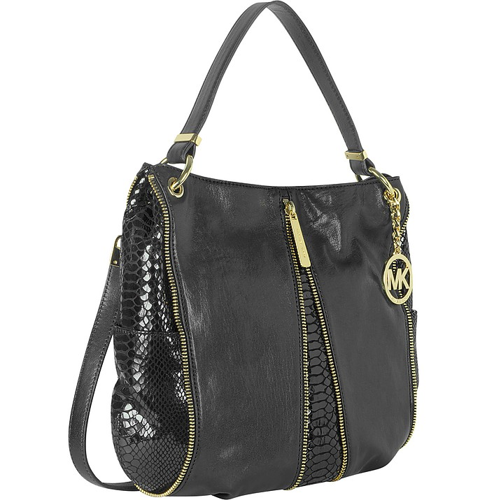 Michael Kors Newman Medium Leather Shoulder Bag at FORZIERI UK