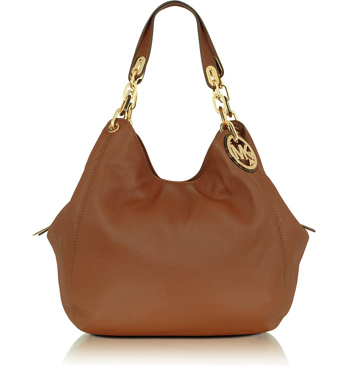 ab101c913b9e Michael Kors Cognac Michael - Fulton Large Leather Shoulder Tote at ...