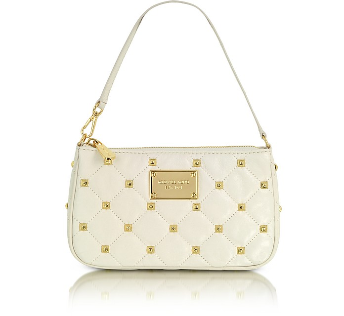 Studded Quilted Wristlet - Michael Kors
