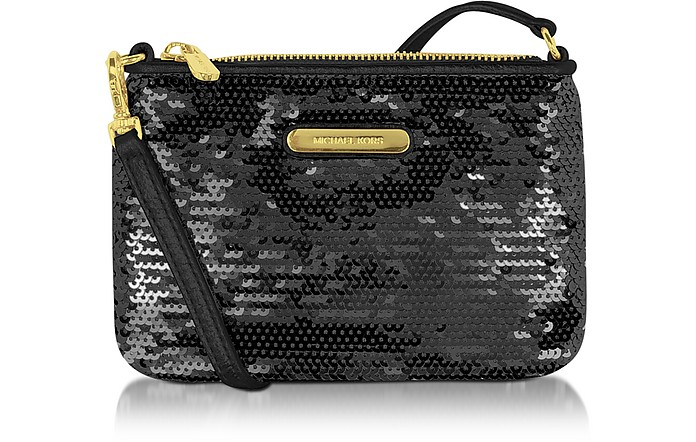 Small Sequined Wristlet  - Michael Kors