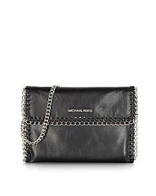 Oversize Chelsea Black Leather Clutch