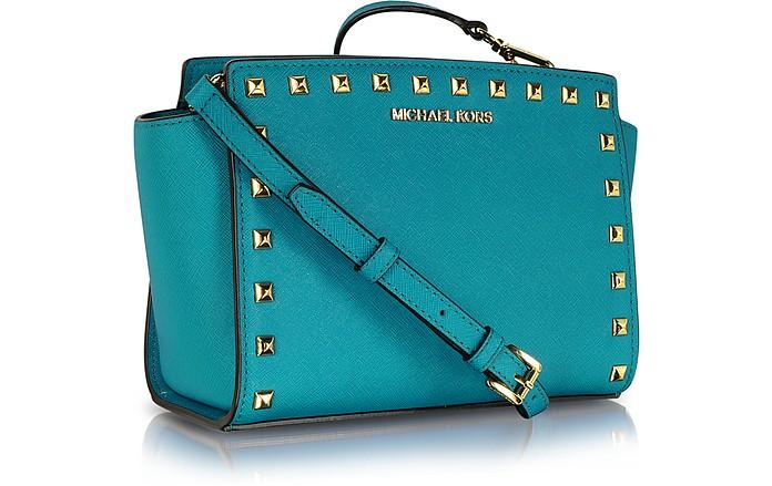 Selma Studded Saffiano Leather Crossbody Bag
