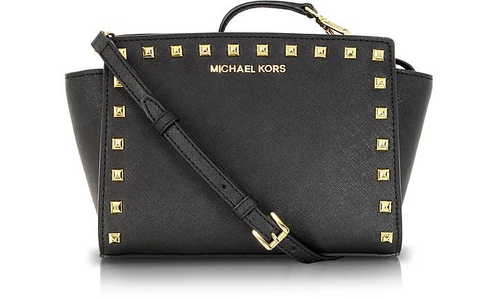 Selma Studded Saffiano Leather Crossbody Bag - Michael Kors
