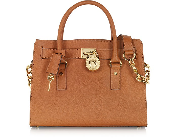 Hamilton Saffiano Leather Satchel - Michael Kors