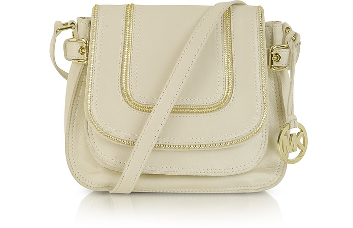 Naomi Vanilla Leather Shoulder Bag - Michael Kors