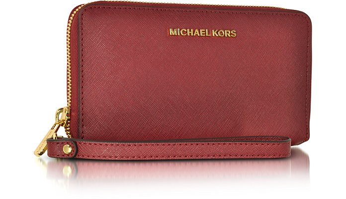 2a200347dd600e Jet Set Travel Large Flat MF Cherry Saffiano Leather Phone Case/Wallet - Michael  Kors. $108.00 Actual transaction amount