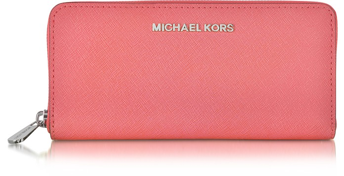 Jet Set Travel Saffiano Leather Continental Wallet - Michael Kors