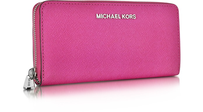 6c8667e515dda7 Michael Kors Chili Jet Set Travel Saffiano Leather Continental Wallet at  FORZIERI UK