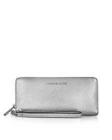Jet Set Travel Large Portafoglio Continental in Pelle Saffiano Silver - Michael Kors