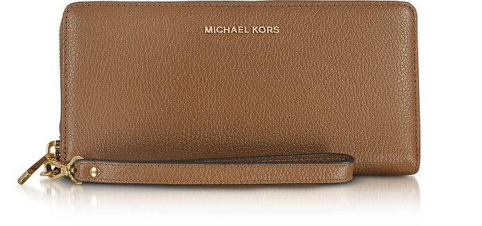 Mercer Large Luggage Pebble Leather Continental Wallet - Michael Kors