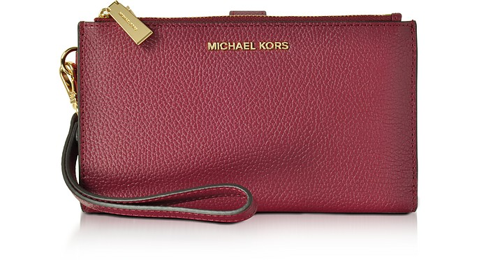 03862928c2d9 Michael Kors Adele Mulberry Pebble Leather Smartphone Wristlet at ...