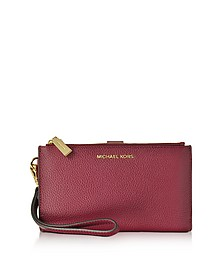Adele Mulberry Pebble Leather Smartphone Wristlet - Michael Kors