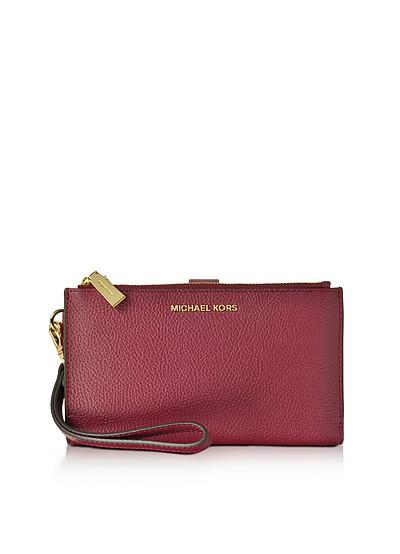 Adele Mulberry Pebble Leather Smartphone Wristlet - Michael Kors