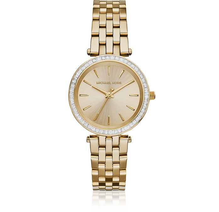 Mini Darci Gold Tone Women's Watch - Michael Kors