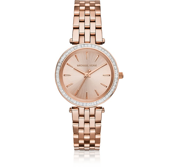 Mini Darci Rose Gold Tone Women's Watch - Michael Kors